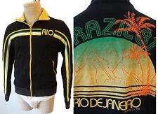 RIO de Janerio BRAZIL Vintage track jacket flag patch running gym yoga suit smal