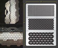 Triangle Mesh Airbrush Stencil Texture Patern Schablonen Maskierung Gestaltung