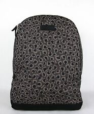 Gucci Dark Gray/Brown Leopard Print Canvas Backpack Luggage Bag 353476 1186