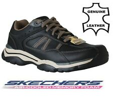 Skechers Men's Rovato-65418 Extra Wide Fit Lace up Black casual shoe Trainers UK
