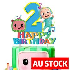 COCOMELON 2ND BIRTHDAY Happy Birthday Cake Topper Party Decoration AU STOCK