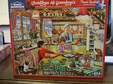 "WHITE MOUNTAIN PUZZLE ""CHRISTMAS AT GRANDMA'S"" #1381 ~ NEW!/SEALED"