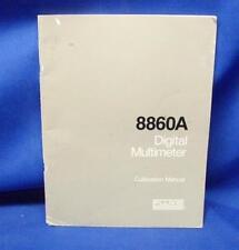 Fluke 8860A Digital Multimeter Calibration Manual