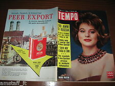 RIVISTA TEMPO 1962/7=MIRANDA MARTINO=VALERIO ZURLINI=MODA YVES SAINT LAURENT=