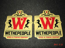 2 AUTHENTIC WETHEPEOPLE STEEL TUBING COMPANY BMX STICKERS / DECALS #38 AUFKLEBER