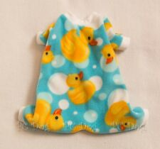 XXXS Ducky Cozy Fleece Dog Pajamas clothes PJS pet Teacup PC Dog®