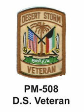 """3""""  D.S. VETERAN Embroidered Military Patch"""