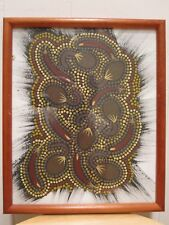 VINTAGE ABSTRACT ART AUSTRALIAN ABORIGINAL BLACKY MBITJANA FINE OCEANIA PAINTING