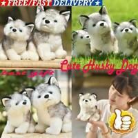 Plush Doll Soft Toy Stuffed Animal Cute Husky Dog Baby Kids Gift Pet S7V1 2 C5K9