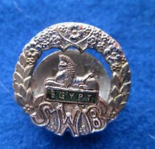South Wales Borderers . Lapel Badge in Chrome and Enamels  1960s?