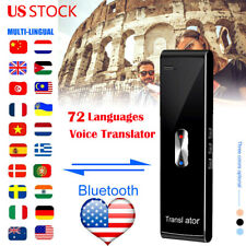 Smart Voice Translator Device Bluetooth 72Languages 2-Way Instant Translation Us