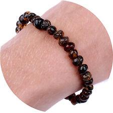 """Adult Baltic Amber Bracelet / Anklet for Women & Men (Unisex - Green - 7.5"""")"""