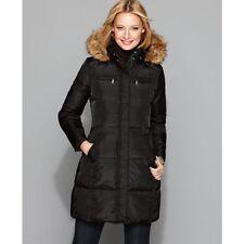 Michael Kors Womens Ladies Black Small Puffer Jacket Coat Faux Fur Down Small
