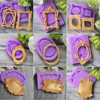 3D Mirror Frame Silicone Fondant Mold Cake Decorating Baking Sugarcraft Mould