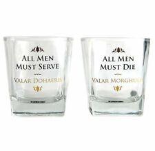Game of Thrones TUMBLER Whiskey GLASS Set of 2 Glasses ALL MEN MUST DIE Serve