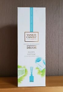 """NEW & SEALED YANKEE CANDLE REED DIFFUSER  DECOR """"CLEAN COTTON"""" 170ml"""