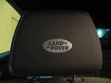 (4pcs) Headrest badge sticker decal LAND ROVER *LOGO*