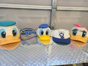 Disney Donald and Daisy Hat Lot