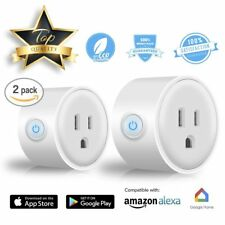 2 Pack WiFi Phone Smart Socket Works with Amazon Alexa Google Home US Plug
