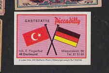 Ancienne étiquettes allumettes Allemagne  BN6797 Turquie Drapeau Publicité