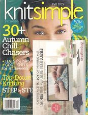 NEW Sealed KNIT SIMPLE Fall 2015 30 Projects Hats Top Down Step by Step Knitting