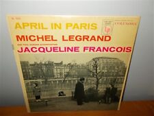 Michel Legrand, Paul Durand, Jacqueline Francois . April in Paris . Columbia LP