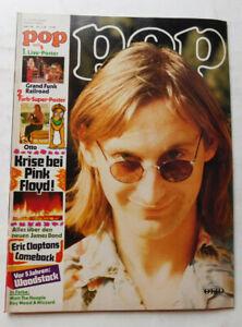 POP   Nr. 17/74   9. Jahrgang 1974   Musikzeitschrift   mit Riesenposter   Z1