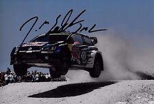 Jari-Matti Latvala SIGNED 12x8  Volkswagen Polo R WRC   Portuguese Rally 2015