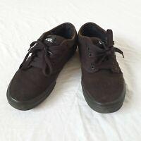 Men's Black Canvas Vans Lace Up Plimsoles Trainers Skateboarding Shoes Size 8