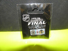 NHL CHICAGO BLACKHAWKS VS. BOSTON BRUINS 2013  STANLEY CUP FINALS LOGO'S PIN