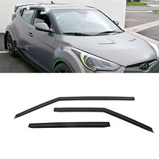 29_Smoke Window Sun Vent Visor Rain Deflector For HYUNDAI 2011-2017 Veloster