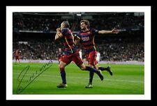 ANDRES INIESTA - BARCELONA AUTOGRAPHED SIGNED & FRAMED PP POSTER PHOTO 1
