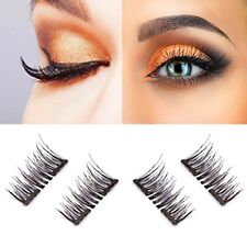 LC Beauty New Dual Magnetic False Eyelashes - 1 Pairs (4 Pieces) Ultra Thin 3D