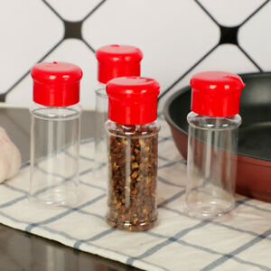 4Pc Spice Salt Pepper Shakers Seasoning Jar Can Pepper Bottle Barbecue Condiment