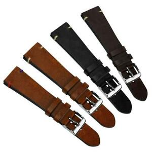 Geckota® Vintage Winchester Traditional Genuine Leather Watch Strap 20mm & 22mm