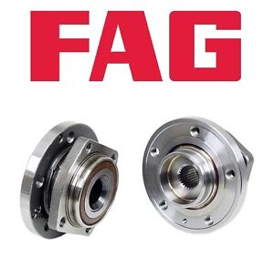 For Volvo 850 C70 S70 Front Axle Bearing & Hub Assembly Set of 2 FAG OEM 274378