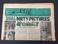 Pink Floyd Newport Pop in OPEN CITY #62 July 1968 underground hippie newspaper