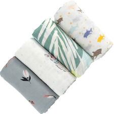Baby Blanket Bedding Newborn Bamboo Fiber Swaddle Wrap Kids Gauze Blanket Hs
