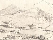 Originalzeichnungen (1900-1949) mit Landschafts-Motiv und Bleistift-Technik