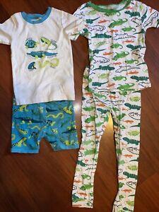 5T Toddler Boys Lizard Iguanas Pajama Set Just One You Carter's Lot Pjs Old Navy