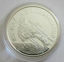 Finnland 10 Euro 2007 Europastern Adolf Erik Nordenskiöld Silber PP