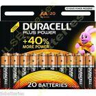 80 DURACELL Plus AA MN1500 LR6 Batteries 1.5V ALKALINE Stilo/ Mignon 4 x 20 PKS