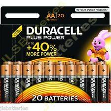 100 DURACELL Plus AA MN1500 LR6 Batteries 1.5V ALKALINE Stilo/ Mignon 4 x 20 PKS