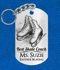 Ice Skate Coach Keychain Gift, Personalized with their Name & Club! Skating