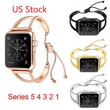 US Stainless Steel Metal Bracelet for Apple Watch Band Series 5 4 3 2 Strap Belt