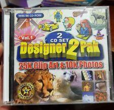 Designer 2 Pak - 25k Art & 10k Photos- PC CD ROM - FREE POST