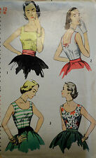 Vtg 50s Sleeveless Blouses : Career, Casual or Evening Simplicity 4350 Bust 30