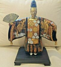 "Vintage Japanese Okimono of a Shinto Priest Statue 12"" Complete - Rooster"