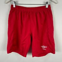 Umbro Mens Shorts Medium Red Elastic Waist Drawstring