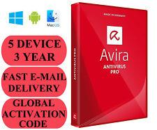 Avira Antivirus Pro 5 DEVICE 3 YEAR GLOBAL CODE 2019 E-MAIL ONLY